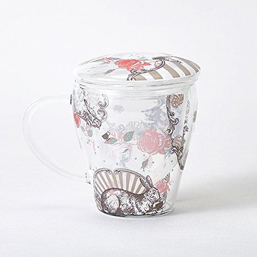 CELEC ティーメイト アラカルト Lサイズ ばらとうさぎ 耐熱ガラスカップ Vフィルター付き