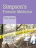 Simpson's Forensic Medicine, 13th Edition