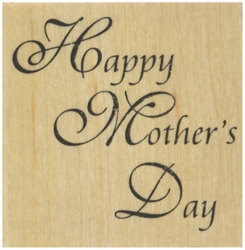 Happy Mother's Day Rubber Stamp - 5.1cm - 0.6cm x 5.1cm - 0.6cm