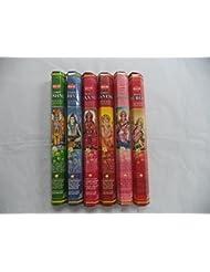 Hem Indian God Series Incense Sticks Variety Combo #1 6 x 20 = 120 Total by Hem