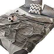 Skazi 六层毛巾毯 100%棉 不易沾灰 蓬松柔软 吸湿性 抗过敏 防螨 亲肤纱布毯