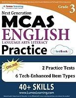MCAS Test Prep: Grade 3 English Language Arts Literacy (ELA) Practice Workbook and Full-length Online Assessments: Next Generation Massachusetts Comprehensive Assessment System [並行輸入品]
