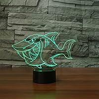WZYMNYD 7色変更led 3dサメ漫画シェイプテーブルランプナイトライトキッズタッチusb lampara赤ちゃん睡眠照明ベッドサイドの装飾ギフト