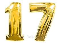 Haili 40インチ17thゴールド番号バルーン