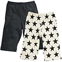 Babysoy Comfy Solid + Star Pattern Pants Set