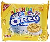 ナビスコ オレオ、誕生日ケーキのクリーム、ゴールデンのクッキー、15.25 オンスのバッグ (パックの 4) Nabisco, Oreo, Birthday Cake Creme, Golden Cookie, 15.25oz Bag (Pack of 4)