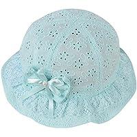 Lieteuy 子供 幼児 赤ちゃんの帽子 刺繍 ビーチキャップ かわいい 花 パターン バケット帽子 ヘルメット バケットキャップ Sunhat