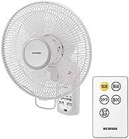 アイリスオーヤマ 扇風機 壁掛け 首振り 風量3段階 リモコン付 タイマー付 リズム風 快眠モード マイコン式 ホワイト WFC-306