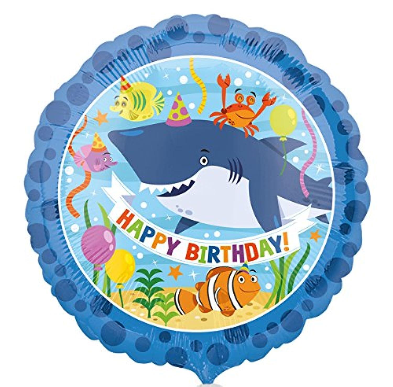 Burton & Burton Happy誕生日Ocean Buddies箔/ポリエステル?フィルムバルーン