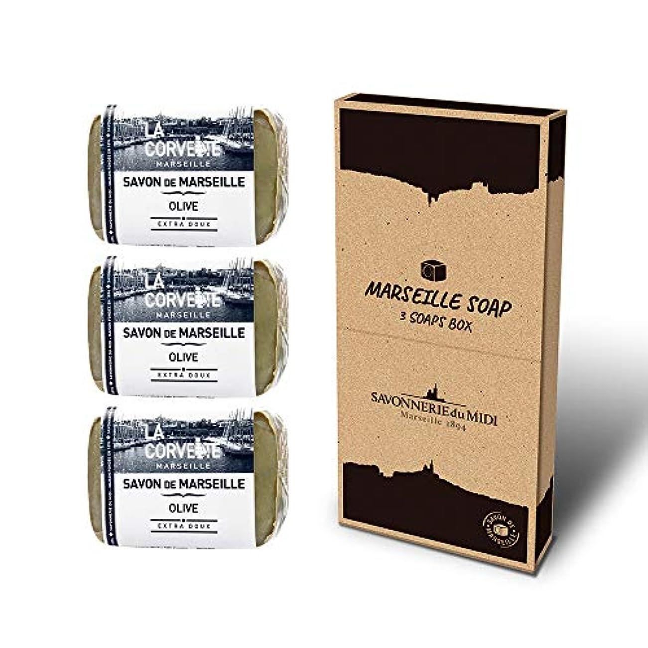 浮くラバキノコマルセイユソープ 3Soaps BOX オリーブ