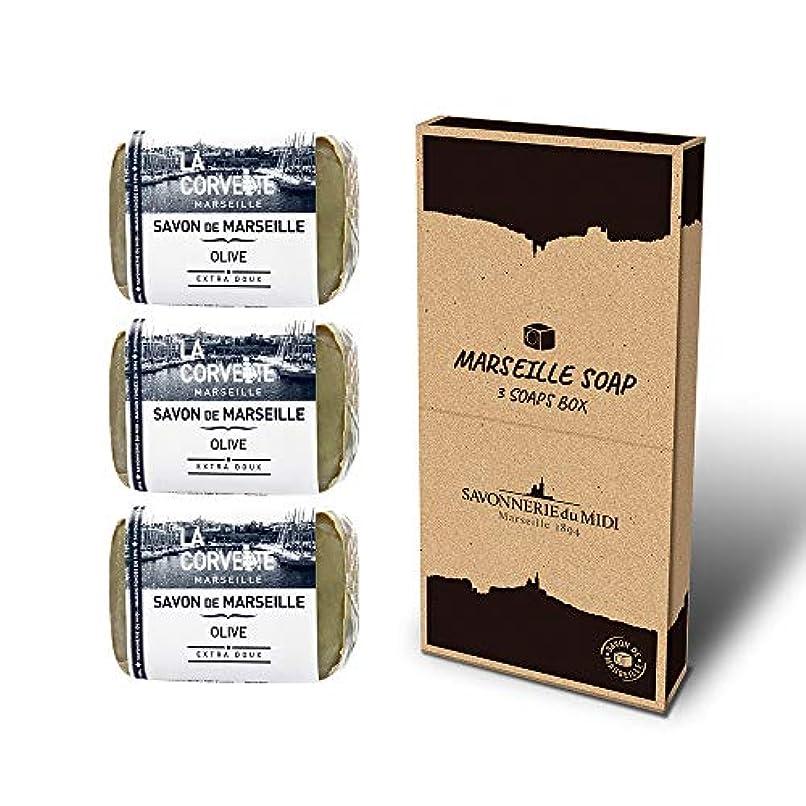 マルセイユソープ 3Soaps BOX オリーブ
