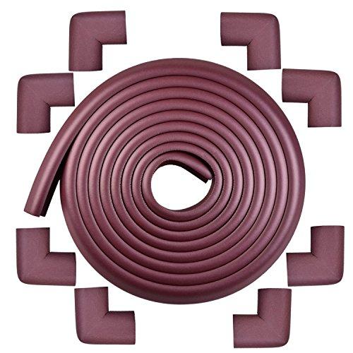 コーナーガード コーナークッション 5M + 角 8個 NBR 両面テープ付 赤ちゃん 舐めても安心 けが防止