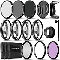 Neewer 77mm レンズフィルターとアクセサリーセット セット内容:UV CPL FLDフィルター、マクロクローズアップフィルターセット(+1 +2 +4 +10)、ND2 ND4 ND8フィルター、Canon EF 24-105 f/4 L IS USMレンズとNikon 28-300f/3.5-5 AF-S レンズに対応