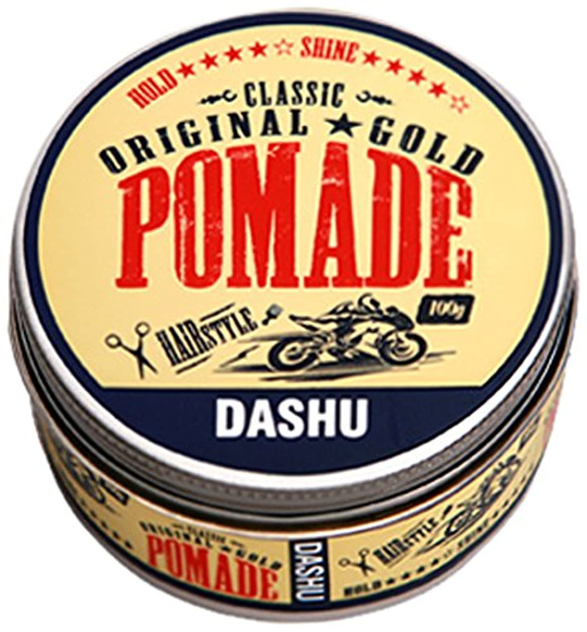 チューインガム敬礼カレッジ[DASHU] ダシュ クラシックオリジナルゴールドポマードヘアワックス Classic Original Gold Pomade Hair Wax 100ml / 韓国製 . 韓国直送品