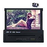 【バックカメラ付属】WinCe 6.0 1Din インダッシュ7インチ車載DVDプレーヤータッチパネルステレオBluetooth iPod GPS FM/AM リモコン