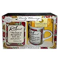 Daily Blessings Spirit Galatians 5:22 Ceramic Mug & Wall Plaque Sign Lemon Tea Gift Set by Daily Blessings