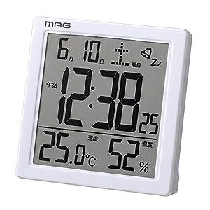 MAG(マグ) 置き時計・掛け時計 ホワイト 9.5×9.3×5.2cm