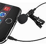 DaVoice Lavalier ラペルマイク iPhone Lav Mic クリップオン Vlog Vlogging 携帯電話 Youtube Mini iPhone マイク ビデオiPhone 7 7 Plus 8 8 Plus X iPad スマートフォン Androidマイク用