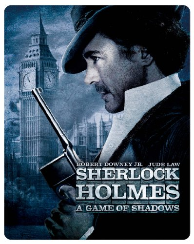 【完全数量限定】 シャーロック・ホームズ シャドウ ゲーム ブルーレイ(2枚組) スチールブック仕様 [SteelBook] [Blu-ray]