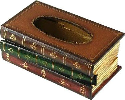 RoomClip商品情報 - Tick Nick えっ! 本じゃなかったの?! レトロ アンティーク 本 みたいな ティッシュボックス ティッシュケース 木製