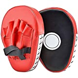 Focus Punching Mitts, Boxing Sparring Hand Target Pads with PU Leather Gloves for Kickboxing Muay Thai MMA UFC Karate Trainin