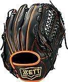 ZETT(ゼット) 野球 軟式 グラブ (グローブ) デュアルキャッチ オールラウンド 右投用 ブラック×オレンジ(1956) BRGB34760