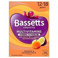 [Bassetts] Bassetts 12-18マルチビタミンプラス月見草油 - Bassetts 12-18 Multi Vitamin Plus Evening Primrose Oil [並行輸入品]