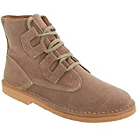 Roamers Mens Ghillie Tie Real Suede Desert Boots