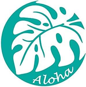nc-smile ハワイアン ステッカー モンステラ アロハ Monstera Aloha (シーグリーン)