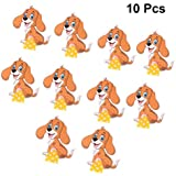Amosfun 10Pcs Kids Blow Outs Cute Cartoon Dog Noisemaker Blowouts Whistles Cheering Props for Kids Birthday Party Supplies