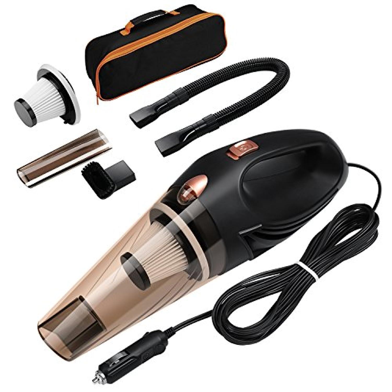 ORIA 車用掃除機 4000 PA 106 W 高出力 ポータブル 硬化ツール 自動車用真空ツール 16.4フィート (5m) 電源コード付き ポータブル手持ちキャリーバッグ
