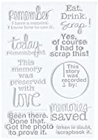 """Technique Tuesday Clear Stamps 4""""X6""""-Scrapbook It (並行輸入品)"""