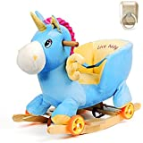 Claroドリーチェアロッキング赤ちゃんのロッキングチェア木馬(海外直送品) (Unicorn - Blue)