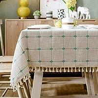 WangYi テーブルクロス- コットンとリネンの小さな新鮮な長方形のテーブルクロスコーヒーテーブルのテーブルクロス (Color : I, Size : 60x120cm)