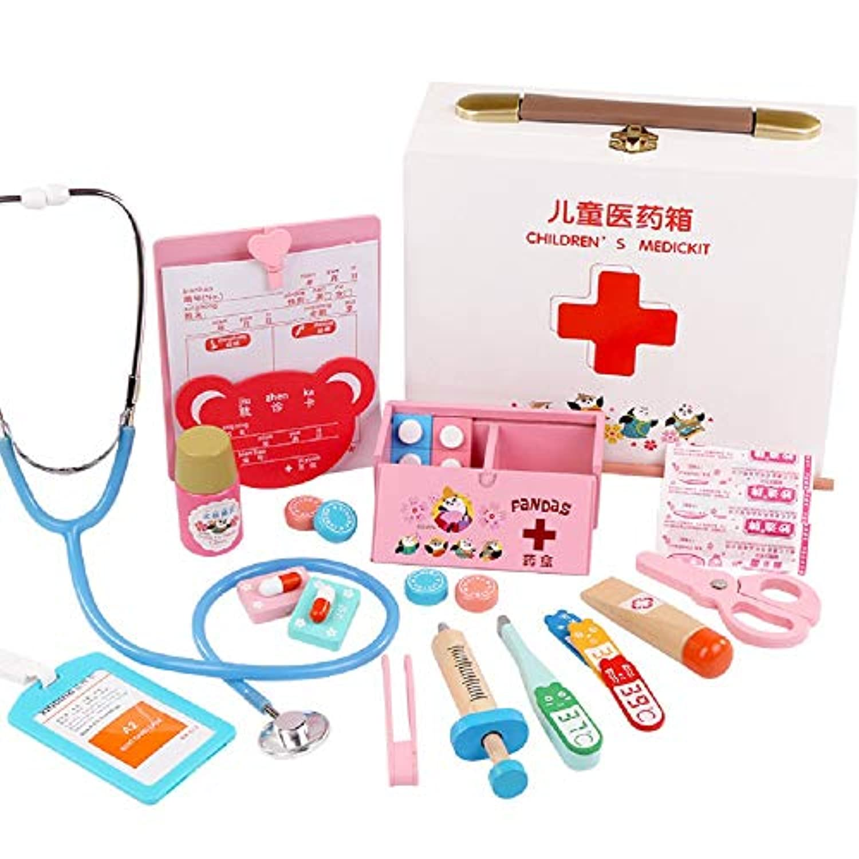 Zhenyu お医者さんのおもちゃ ごっこ遊び 医師 ナースおもちゃ ロールプレイクラシック 子供のおもちゃ ベビーシミュレーション 病院用スーツケース