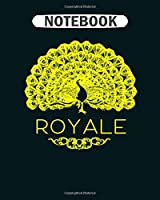 Notebook: royale peacock  College Ruled - 50 sheets, 100 pages - 8 x 10 inches