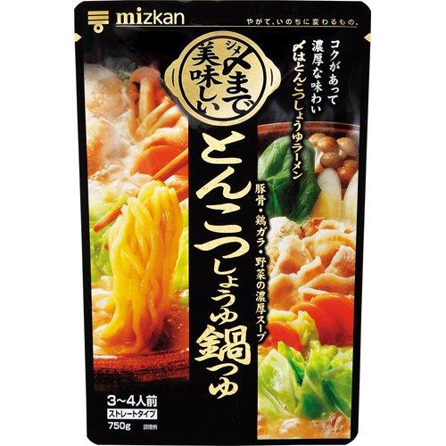 ミツカン 〆まで美味しいとんこつしょうゆ鍋つゆストレート 750g