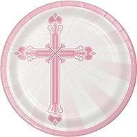"Creative Converting頑丈なスタイルラウンド紙皿、8.75、」Blessingsピンク 8.75"" ピンク 422218"
