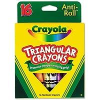 Crayolareg ; – Triangularクレヨン、盛り合わせ、16 /ボックス – Sold As 1ボックス – 三角形形状により、クレヨンWontロールAwayまたはオフのサーフェス。