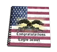"3drose特別なイベント – イメージのグランジCongratulations Eagle Scout On Flag – Drawing Book 12 x 12"" db_271133_2"