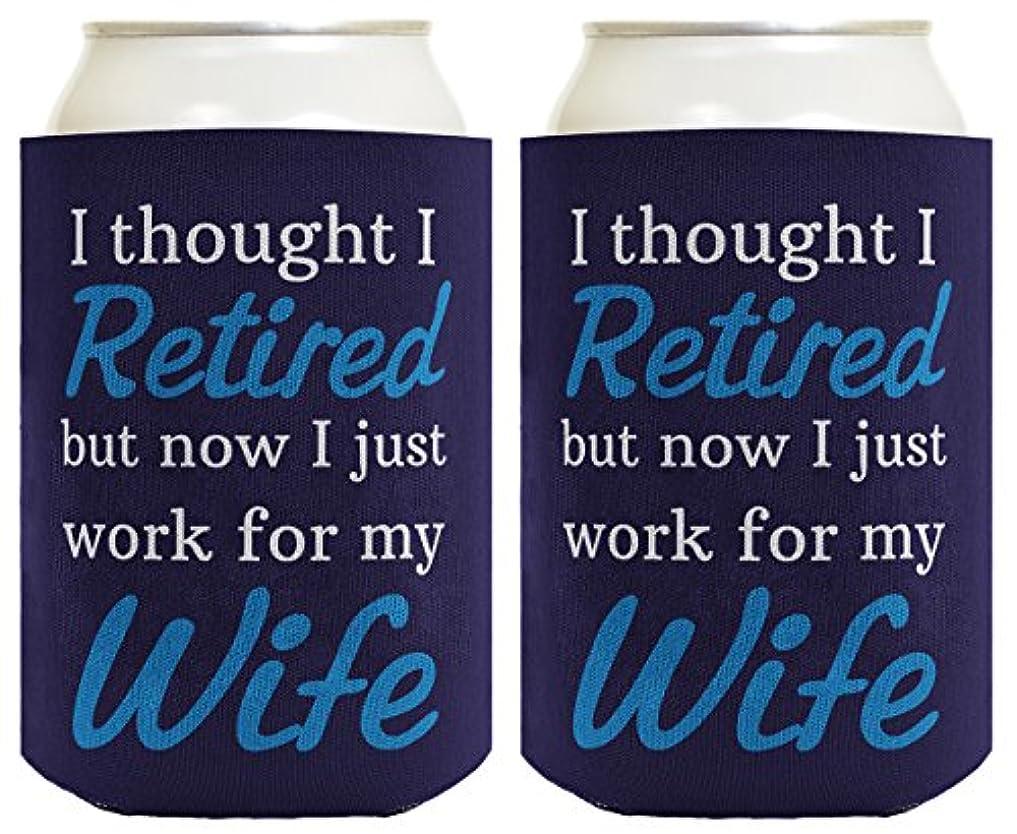 ステレオタイプ自分のために告発Funny Retirementギフト退職作業の妻Can CoolieドリンククーラーCoolies ブルー