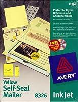 avery yellow self seal mailer 8326 by avery 並行輸入品 avery