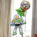 即日発送対応 バルーンギフト キャラ電 トイストーリー【 バズ 】ヘリウムガス入り3個 28316 (1)バースデイHatStar 10381(写真))
