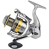釣り用リール 二重抗力ブレーキシステムが付いている塩水の淡水釣のための回転釣巻き枠左右の交換可能なハンドル (サイズ : 5000)