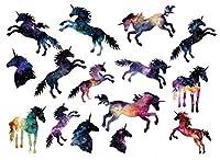 防水一時的な偽のタトゥーステッカー水彩ユニコーン馬動物漫画デザイン子供子供ボディーアートメイクアップツール[SF3389]