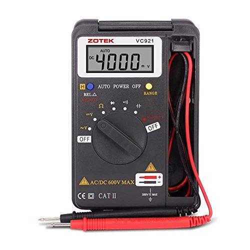 C-Timvasion Miniデジタル・マルチメータ LCDディスプレイ 電流 電圧 抵抗 周波数 導通測定テスター 自動車、家庭、産業用 テスター B07FKNSYCQ 1枚目