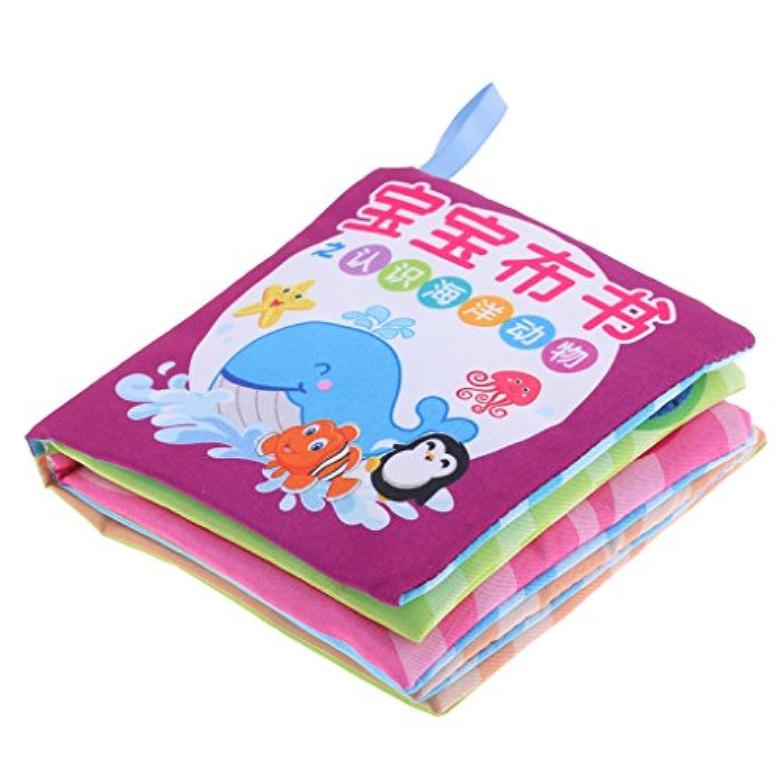 monkeyjack Preschool教育Developmental 10ページ布Cognize Book withサウンドおもちゃ幼児赤ちゃんの子学習学校供給Marine動物