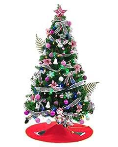 クリスマスツリーセット 120cm ピンク風 Christmas tree pink 120センチ 豪華なオーナメントセット付き プレゼント ツリースカート贈り アニメ専線 (ピンク)