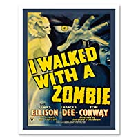 Movie Film Walked With Zombie Horror Terror Hand Art Print Framed Poster Wall Decor 12X16 Inch 映画膜ホラーポスター壁デコ