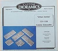カスタム ジオラミックス 1:35 アーバンシリーズ コブルサイドウォークス ジオラマアクセサリー #CD1108X